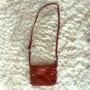 Cole Haan brown leather cross body!